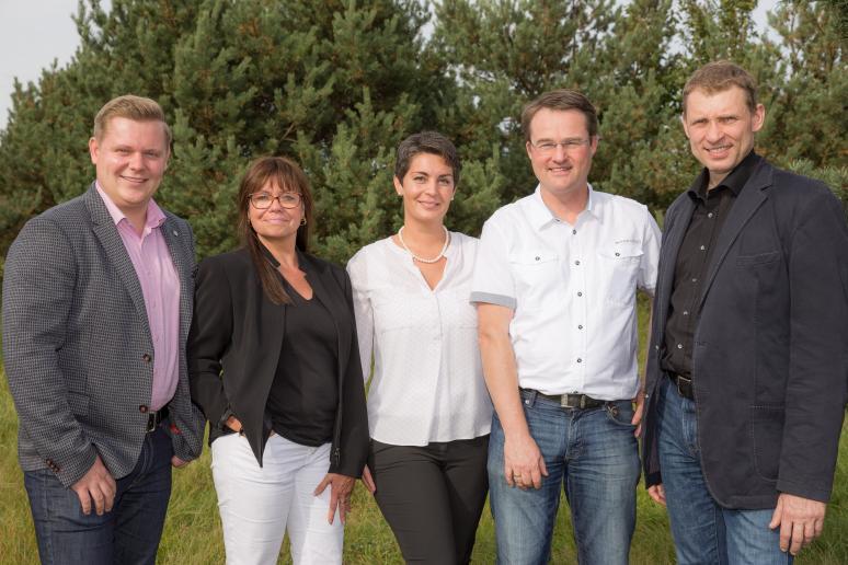 Comteam-Beirat: Sascha Neininger, Verena Müller-Thiel, Laalak Nassiri, Burkhard Fels und Matthias Kunert